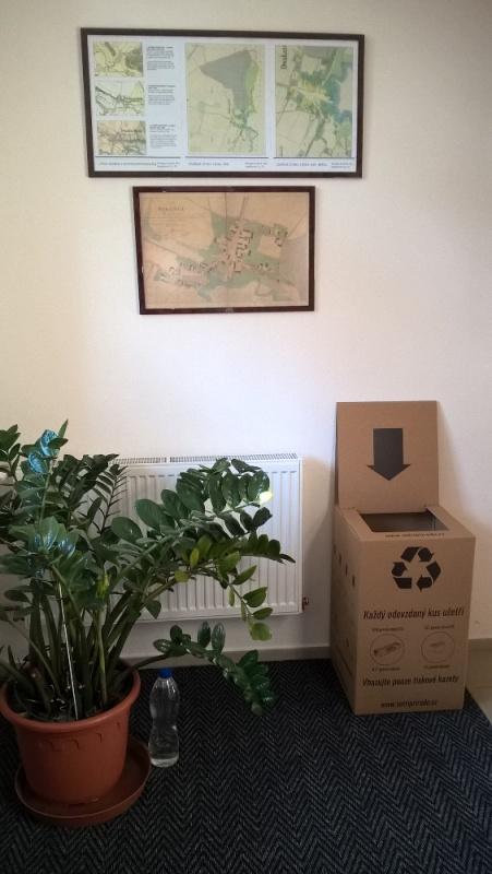 Sběrný box na použité tonery a inkousty obec Dvakačovice