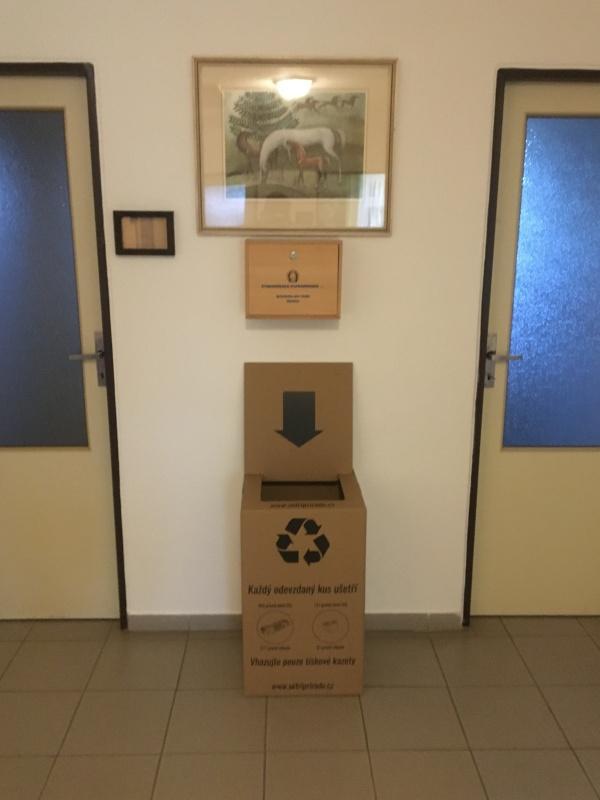 Sběrný box na použité tonery a inkousty obec Kostelec u Křížků